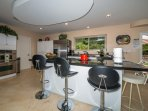 countertop with seating for 5