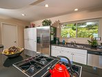 KITCHEN: The kitchen is fully functional and conveniently furnished with everything you need
