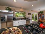 The kitchen is fully functional and conveniently furnished with everything you need