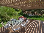 You have the option to have your meals outside in the outer sitting area, enjoy the fresh air