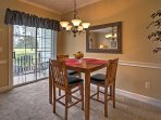 Enjoy a meal with your loved one at this quaint dining table.