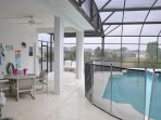 Bench, Dining Table, Furniture, Table, Pool
