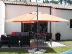 Grand-parasol, terrasse Sud