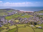 Croyde Holiday Cottages Pebbles Aeriel