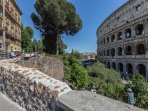 our apartment is loated at the third floor facing the Colosseum