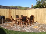 Nuthurst Croyde Holiday Cottages Garden Terrace And Table