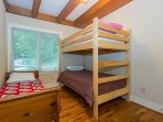Bedroom w/ bunk bed and twin