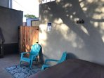 Private backyard completely separate from front unit