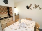 Hills View Croyde Holiday Cottages Kitchen Aga