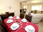Hills View Croyde Holiday Cottages Dining Room