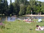 Swim in the river at Aubeterre-sur-Dronne. 30 mins away. Very pretty and worth a visit