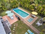 2/35: Large 13 x 32 ft. open pool with deck and patio