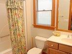 Full Master Bathroom Located in Queen Room 6