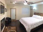 Master bed with King mattress, bamboo pillows, and Casper pillow.