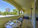 Walk through the patio doors and sit at the lanai's breakfast table to enjoy your freshly cooked goods and favorite...