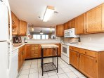The full kitchen is a pleasure to prepare meals in! Features a c