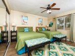 The bright, open feel of the guest bedroom makes relaxtion easy