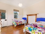 Bedroom 3 has twin beds
