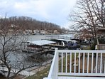 View out to the main channel of the Lake of the Ozarks - watch the million dollar boats roll in