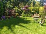 Private fully landscaped backyard