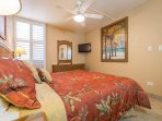 Master Bedroom With Luxury King Sized Bed And Flat Screen TV