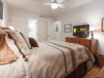 Flat Screen TV in Bedroom