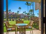 Lanai With Ground Floor Convenience To The Pool And BBQ Area's