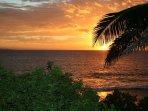 Sunset From Nearby Kamaole Beach