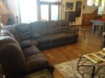 Family room l-shaped couch