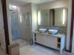 En Suite Bathroom with seperate shower / toilet cabinets