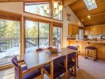 Floor to ceiling windows + skylights let in tons of natural ligh