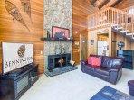 Living Room w/Wood Fireplace