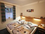 Master bedroom with Austrian double bed