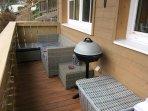 Spacious Sunny Balcony with BBQ
