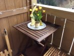 Balcony table to eat out in the summer months