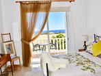 Master Bedroom with views to the Mediterranean Sea