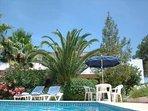 Villa Feliz gardens and pool