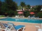 Villa Feliz gardens and swimming pool