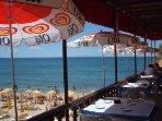 Albufeira beach and cafe