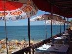 Beach cafe restaurant near Albufeira