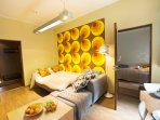 The sofabed transforms to 150 x 255 bed - onbe more bedroom!