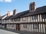 Tudor cottages in Stratford upon Avon