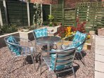 Sun trap garden, the perfect place to soak up some sunshine.