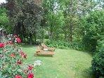 Jardin en contre-bas de la terrasse