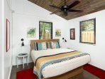 1 bedroom with king size bed, sleeps 2