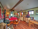 Inside, the studio features beautiful hardwood floors, a king-sized bed, a double hide a bed couch for additional...