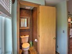The studio features 1 bathroom for guests to use.
