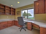 The home offers a large office space.