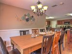Host family dinners in this formal dining area.
