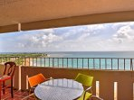 Sip your morning coffee while you lean against the balcony and gaze out over the beautiful ocean while the sun rises.